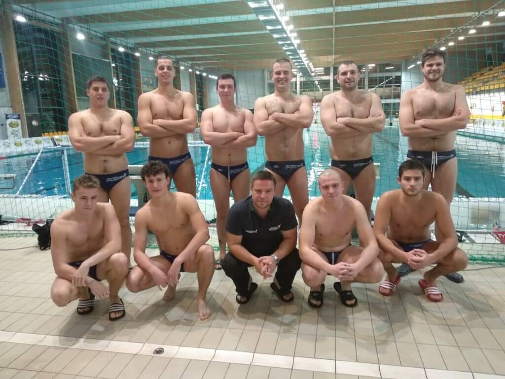 Zdjęcie drużyny KS Waterpolo Poznań po sobotnim meczu wyjazdowym z ŁUKOSZ WTS Polonia Bytom