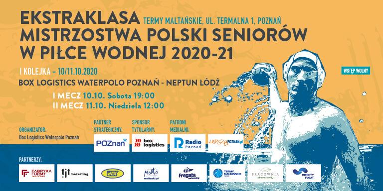 Plakat Box Logistics Waterpolo Poznań - Neptun Łódź